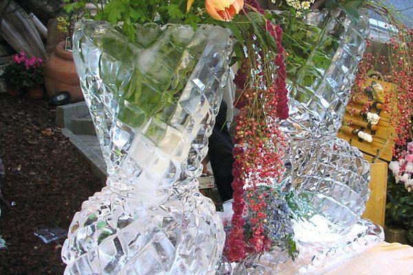 Sculture di Ghiaccio Vaso di fiori